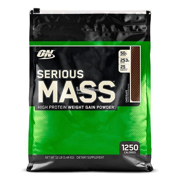 Optimum Nutrition ON Serious Mass 12 Lbs - Muscle Gainer Susu Protein