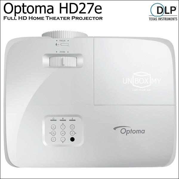 Optoma HD27e DLP Full HD Home Theater Projector (Old HD27)