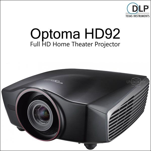 Optoma HD92 DLP 1080p Full HD Home Theater Projector