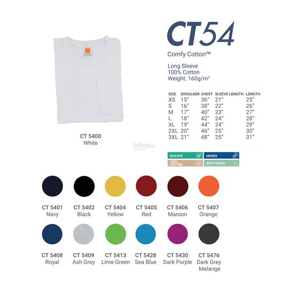 Oren Sport Comfy Cotton Long Sleeves Round Neck T-shirt CT54