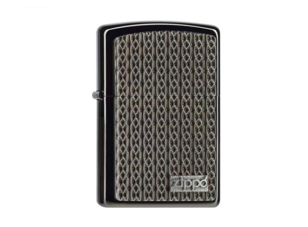 "Org.ZIPPO Lighter Lighter Ebony Plak. ""Chain Structure Design"" 2004527.."
