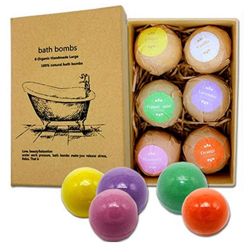 Organic Handmade Aromatherapy Beauty Moisturizing Bath Bomb (60g x 6)