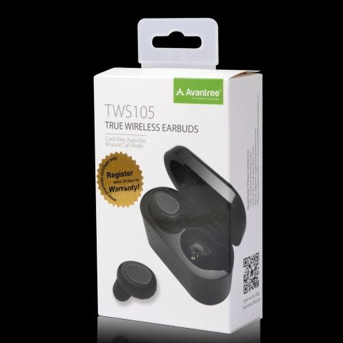 ORI AVANTREE TWS105 Truly Wireless Bluetooth 5.0 Earbuds Charging Case