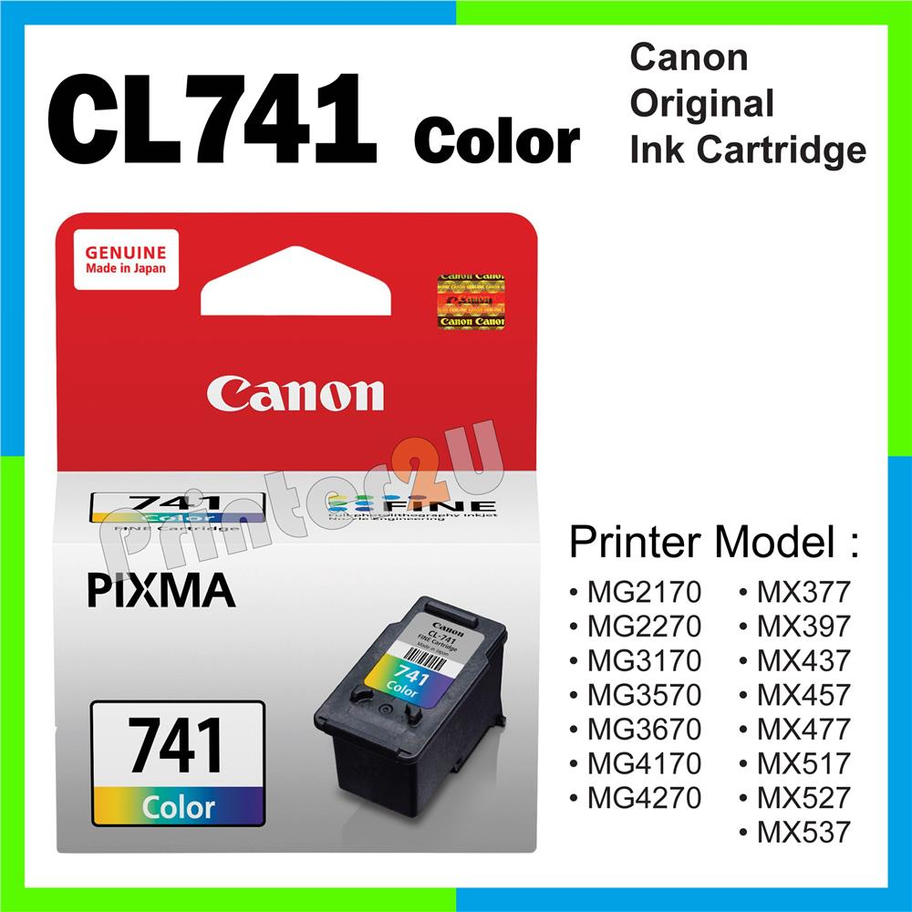 Ori Canon Original Cartridge CL741 Color MG3670 MG4170 MG4270