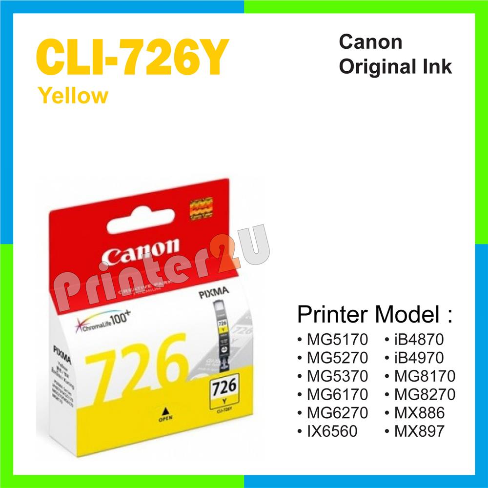 Ori Canon Original CLI-726Y Yellow MG5170 MG5270 MG5370 MG6170 MG6270