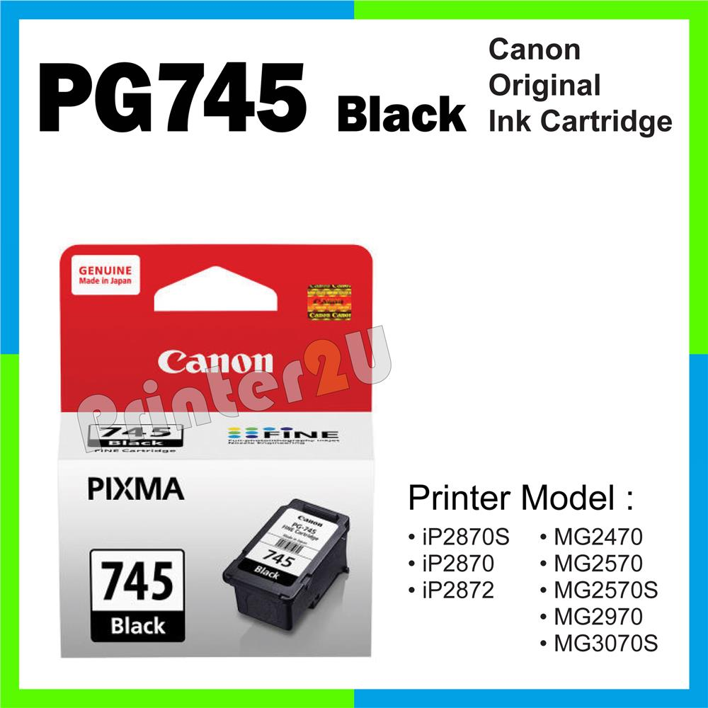 Ori Canon Original INK PG745/PG 745 Black iP2870s iP2870 iP 2870 2870S
