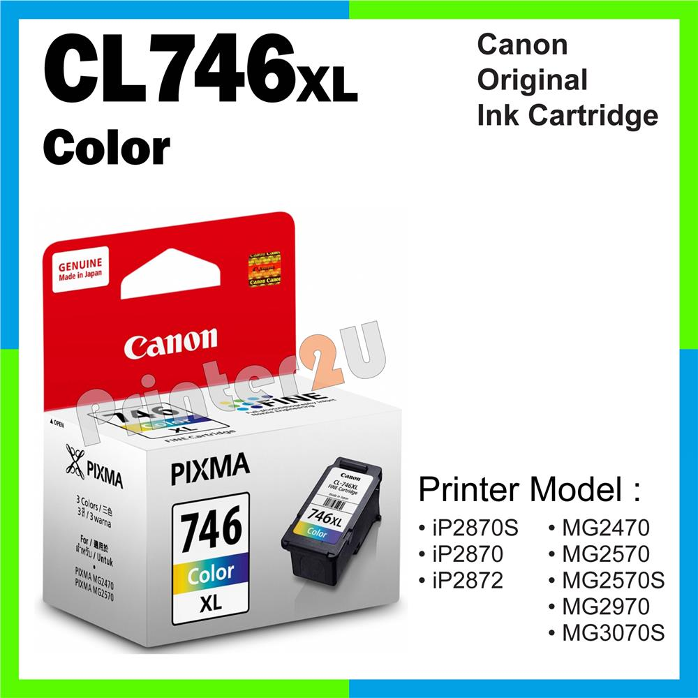 Ori Canon Original Inkjet Ink Cartridge CL746XL Color iP2870s iP2870