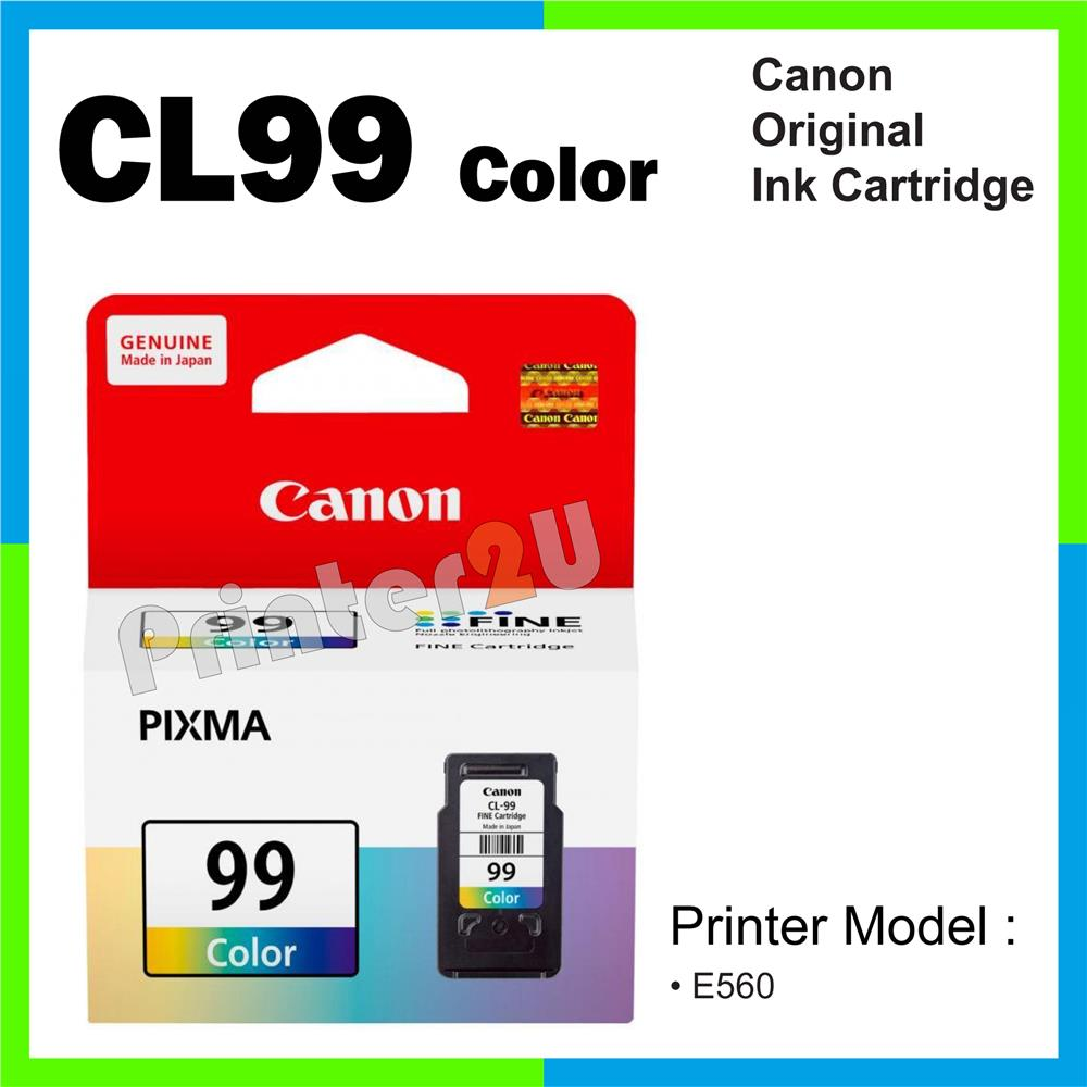 Ori Canon Original Inkjet Ink Cartridge CL99/CL 99 Color E560 E560 CMY