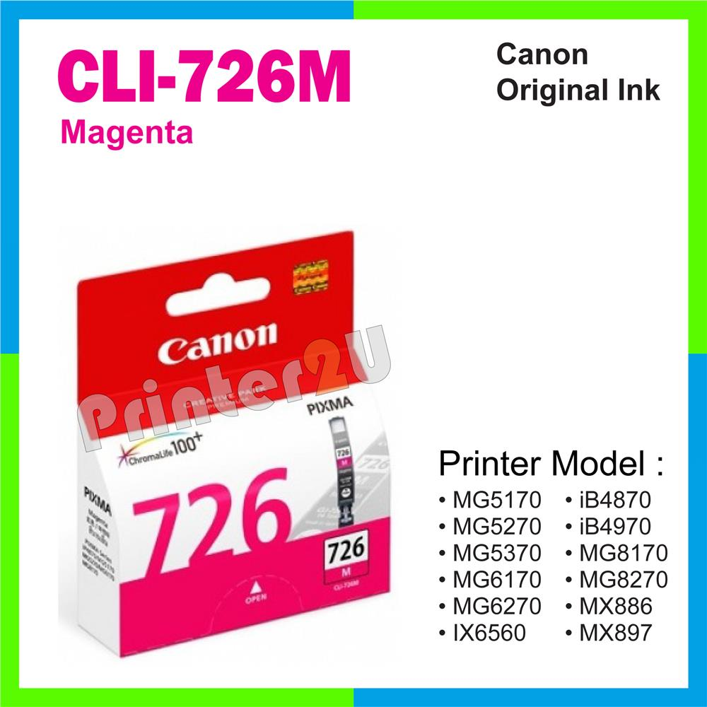 Ori Canon Original Inkjet Ink Cartridge CLI-726M Magenta iP4870 iP4970