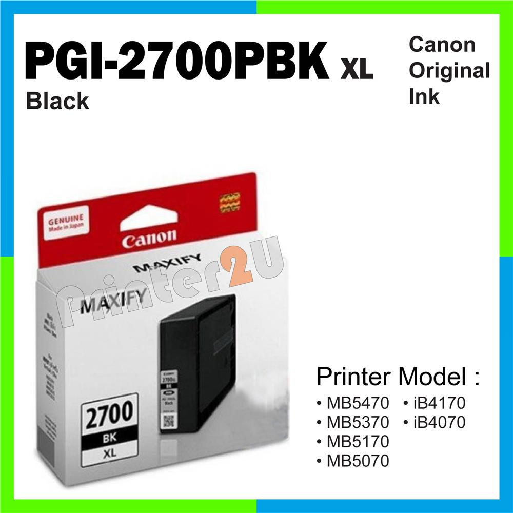Ori Canon Original Inkjet Ink Cartridge PGI-2700PBK XL Black iB4170