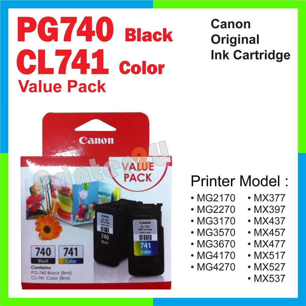 Ori Canon Original PG740 + CL741 Value Pack MX397 MX437 MX457 MX477