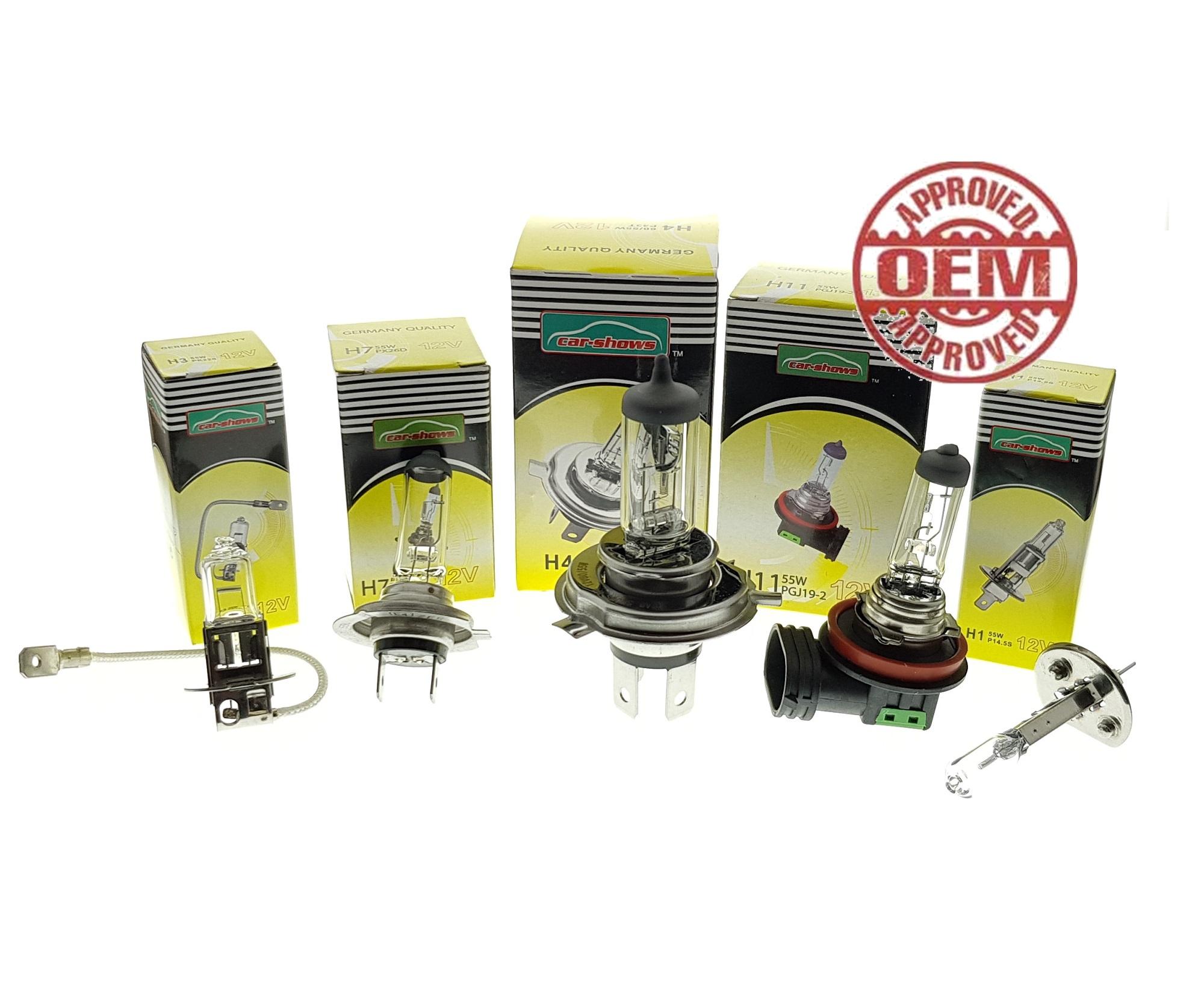ORI Car-Shows Halogen Bulb H1/H3/H4/H7/H8/H9/H11/HB3/HB4 Osram Philips