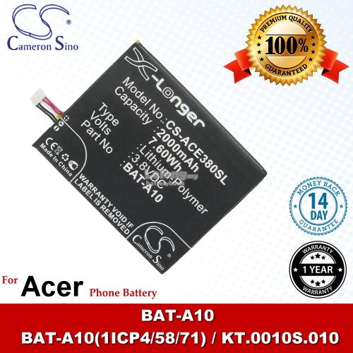 Ori CS ACE380SL Acer KT.0010S.010 / Liquid E3 E380 / V380 Battery