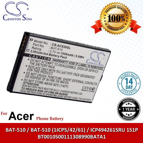 Ori CS ACS30SL Acer BT0010S00111308990BATA1 Battery