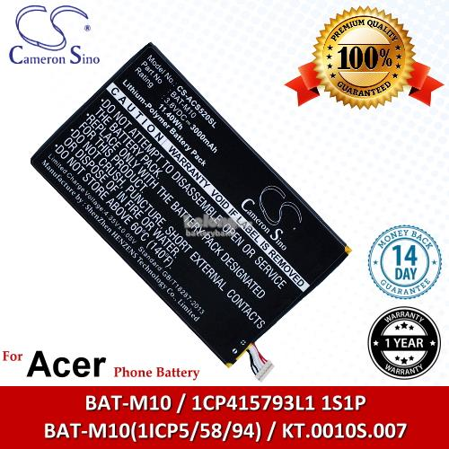 Ori CS ACS520SL Acer BAT-M10 / 1CP415793L1 1S1P Battery