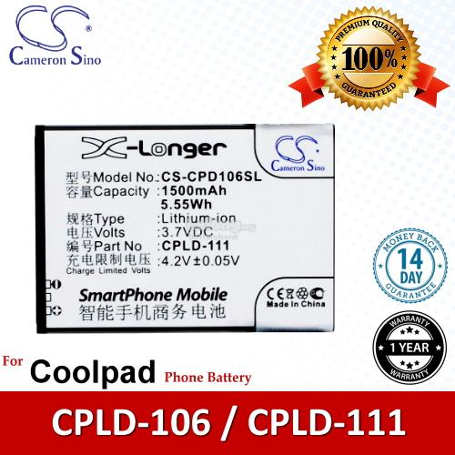 Ori CS CPD106SL Coolpad CPLD-111 / CPLD-106 / 5213 5216D Battery