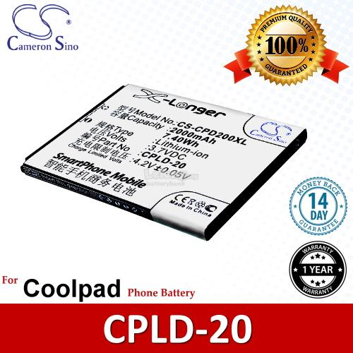 Ori CS CPD200XL Coolpad CPLD-20 / 8730 / 4G 8730L / 8736 8920 Battery