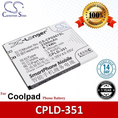 Ori CS CPD867SL Coolpad CPLD-351 / 8675 / 8675 HD 4G / F2 Battery