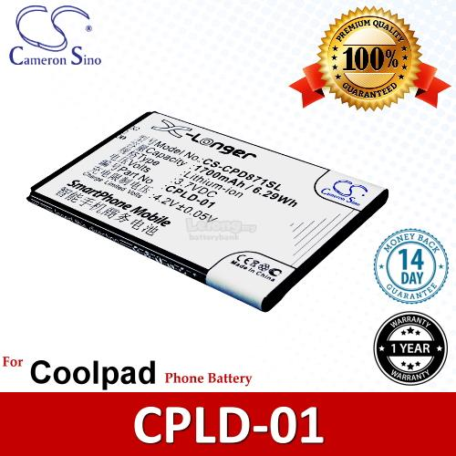 Ori CS CPD871SL Coolpad CPLD-01 / Coolpad 8710 9120 Battery