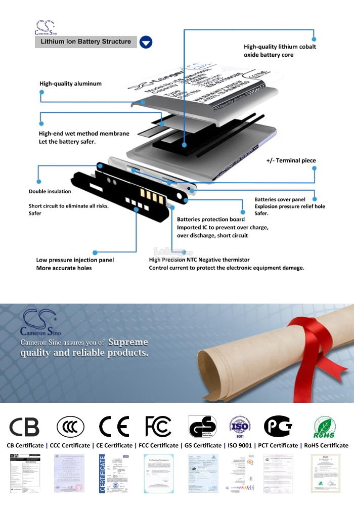 Ori CS CPS600XL Coolpad CPLD-323 / Coolpad S6 9190L 9190L-C00 Battery