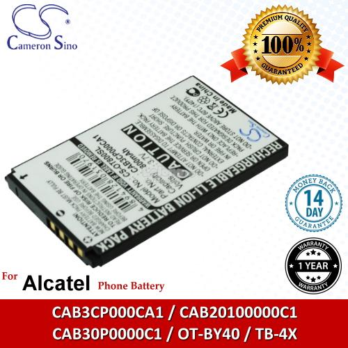 Ori CS OT800SL Alcatel CAB30P0000C1 / OT-BY40 / TB-4X Battery