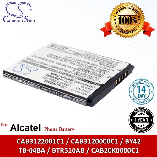 Ori CS OT880SL Alcatel CAB20K0000C1 TB-04BA BY42 BTR510AB Battery