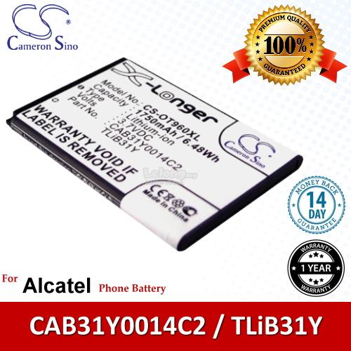 Ori CS OT960XL Alcatel One Touch 955 OT-955 995s OT-995s Battery