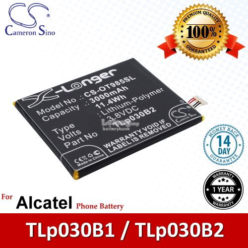 Ori CS OT985SL Alcatel TLp030B2 / TLp030B1 Battery