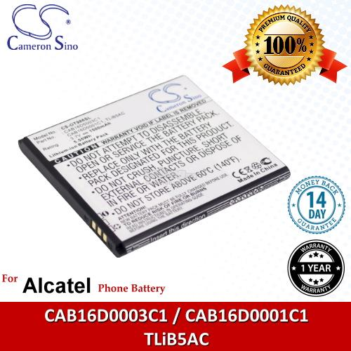Ori CS OT986SL Alcatel CAB16D0003C1 / CAB16D0001C1 / TLiB5AC Battery
