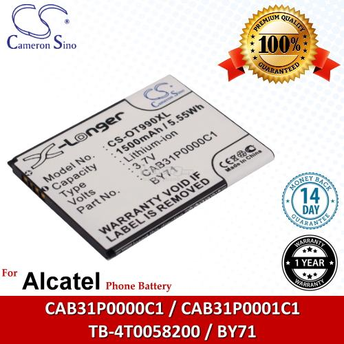 Ori CS OT990XL Alcatel One Touch W939 / OT-W939 / 990A OT-990A Battery