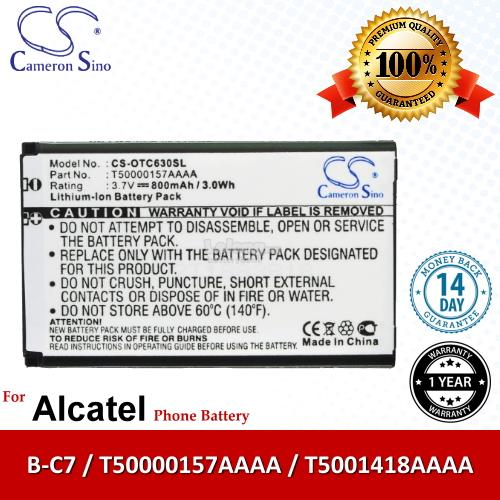 Ori CS OTC630SL Alcatel One Touch C635 OT-C635 C701 OT-C701 Battery