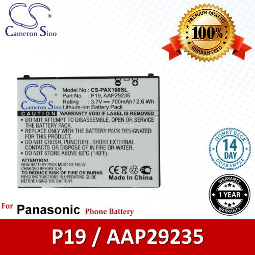 Ori CS PAX100SL Panasonic P19 / AAP29235 / P-08A P-10A Battery