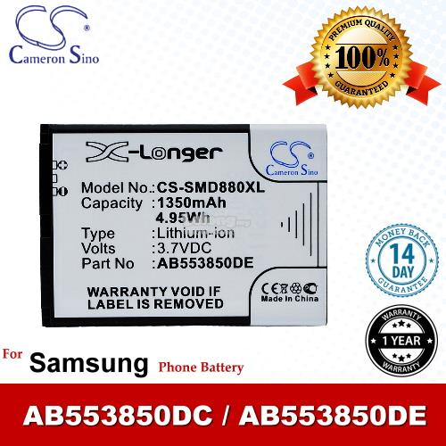 Ori CS SMD880XL Samsung AB553850DE AB553850DC Battery