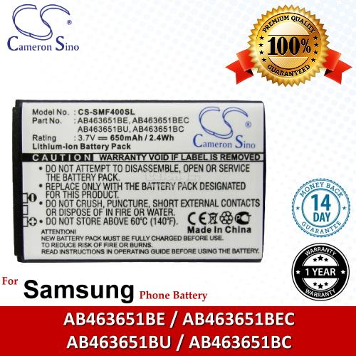Ori CS SMF400SL Samsung GH-J800 / S7070 Miss player Battery