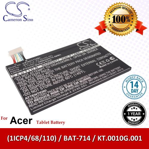 Ori CS Tablet Battery Model ACT110SL Acer BAT-714 / (1ICP4/68/110)