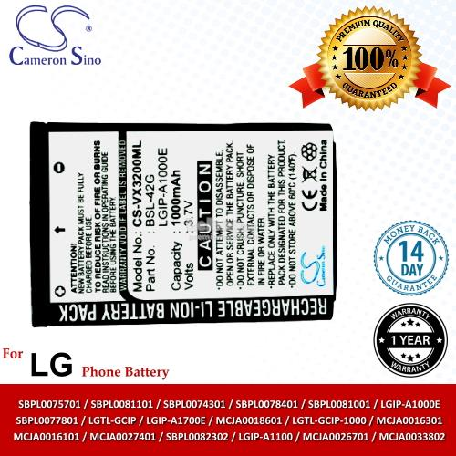 Ori CS VX3200ML LG AX4270 VX4270 AX-4750 AX4750 VX-4700 VX4700 Battery