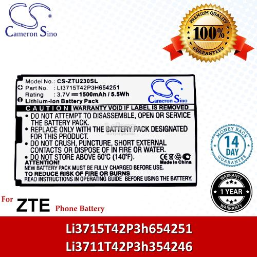 Ori CS ZTU230SL Telstra U600 U700 U720 / U722 U728 U862 U900 Battery