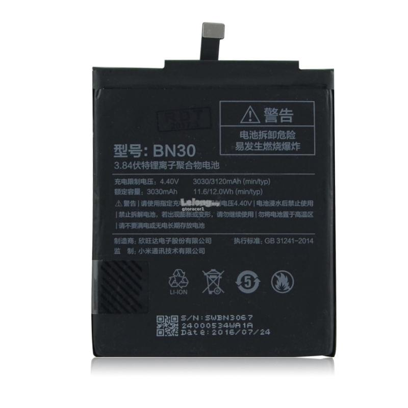 Ori Hongmi Redmi 4A BN30 Battery Replacement Sparepart Repair 3120 mAh