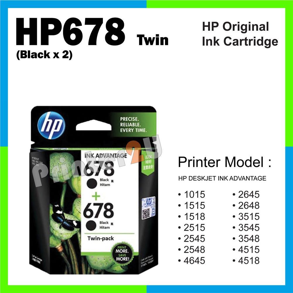 Hp Tinta 680 Black Original Ink 2 Pcs Hitam Daftar Update Harga Cartridge Ori 678 Twin X 2548 2645 2648