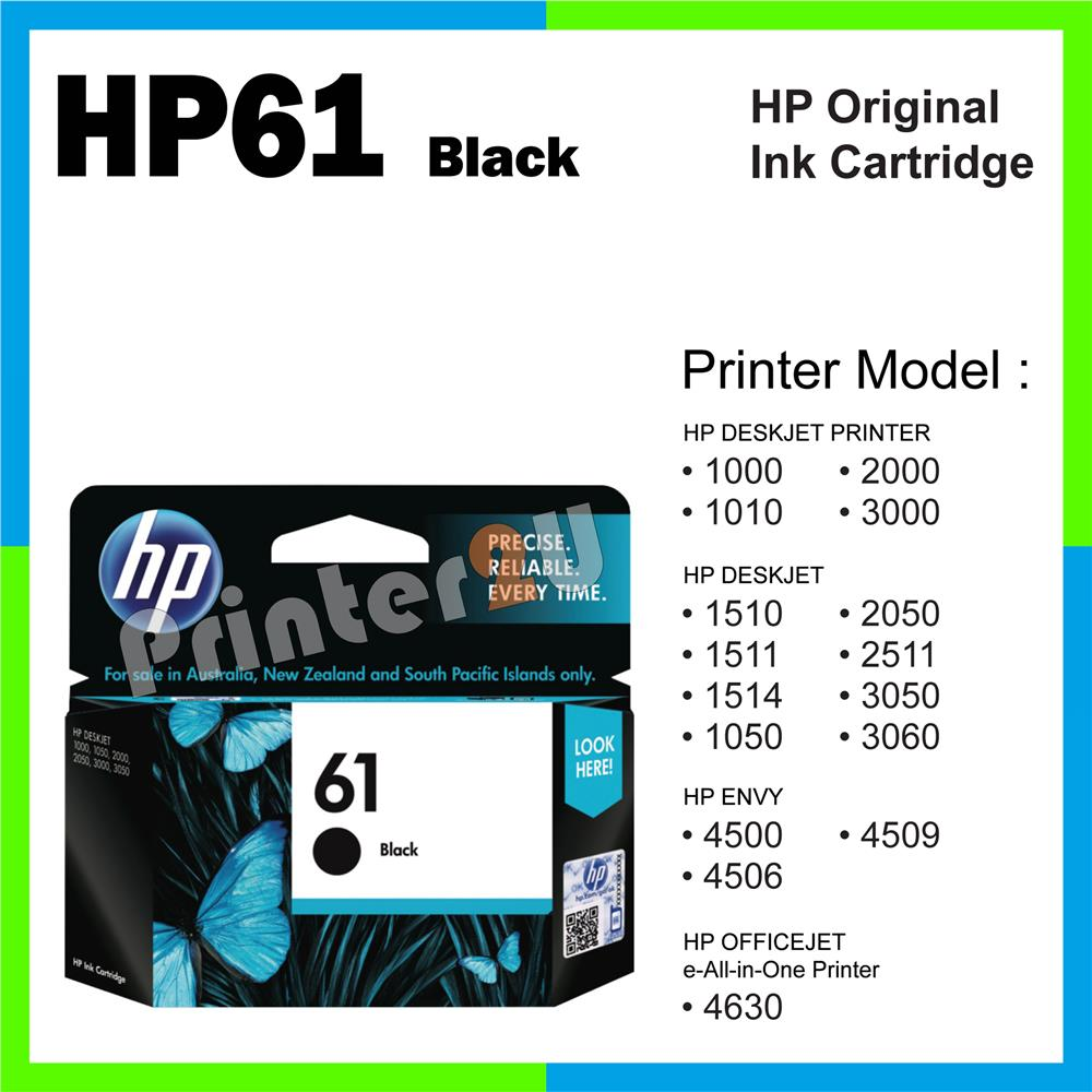 Ori HP Original Inkjet Ink Cartridge HP 61 Black 1000 1010 2000 3000