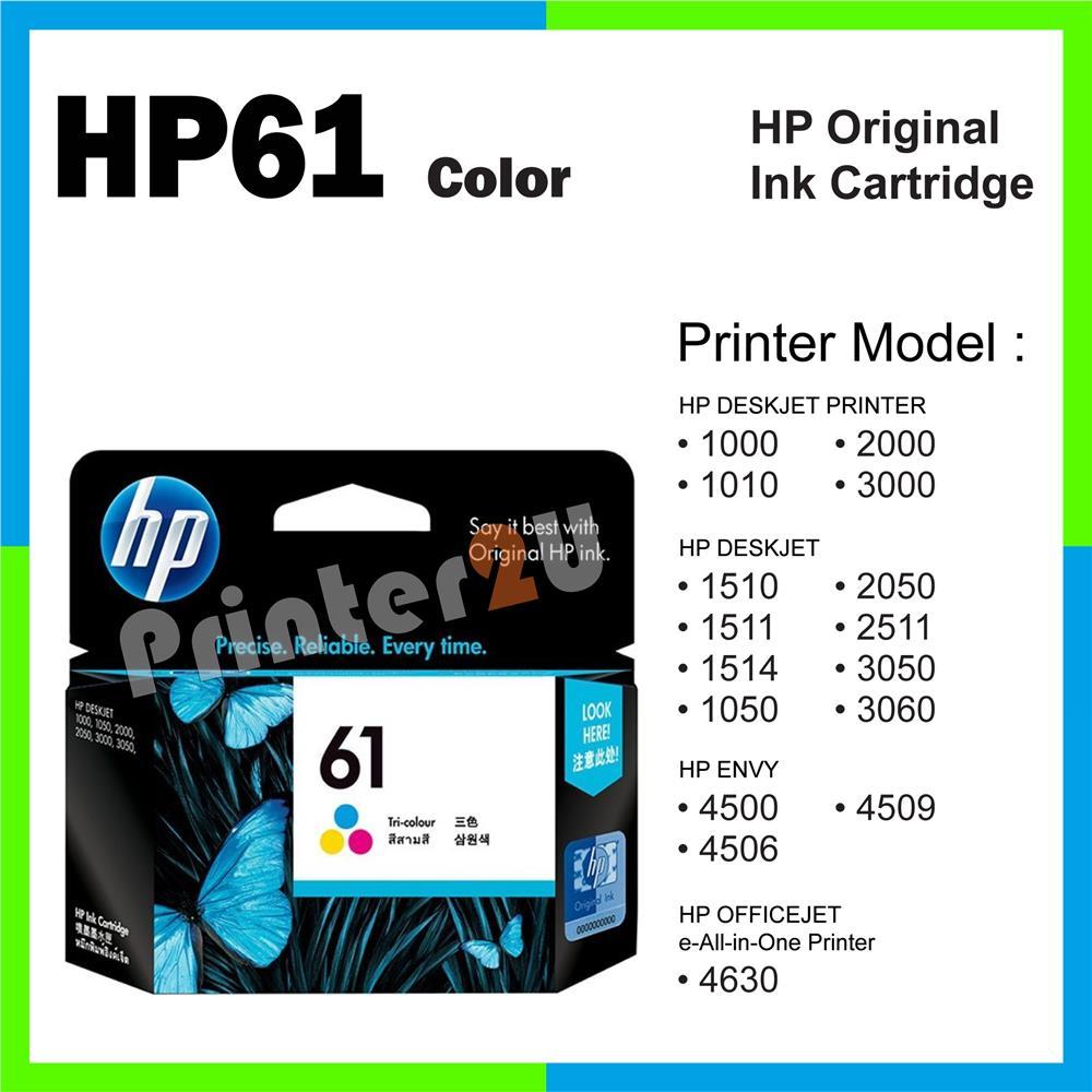 Ori HP Original Inkjet Ink Cartridge HP 61 Color 1000 1010 2000 3000