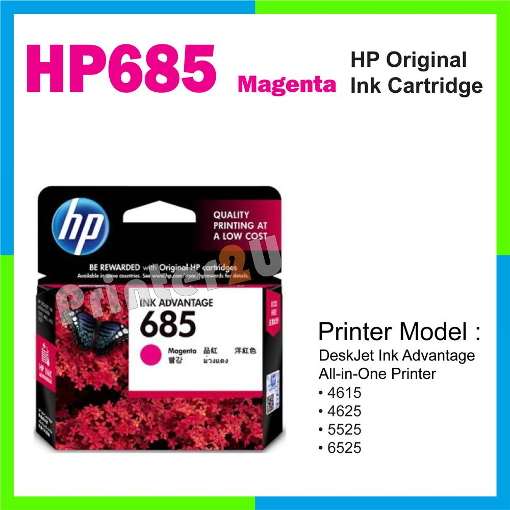 Ori HP Original Inkjet Ink Cartridge HP 685 Magenta 6525