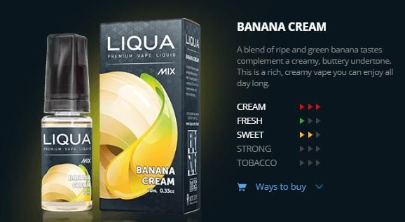 Ori LIQUA Mix Banana Cream 30ml Flavor E Liquid Juice Flavour Vape