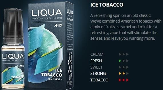 Ori LIQUA Mix Ice Tobacco 30ml Flavor E Liquid Juice Flavour Vape