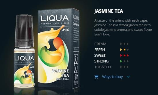 Ori LIQUA Mix Jasmine Tea 30ml Flavor E Liquid Juice Flavour Vape