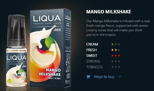 Ori LIQUA Mix Mango Milkshake 30ml Flavor E Liquid Juice Flavour Vape