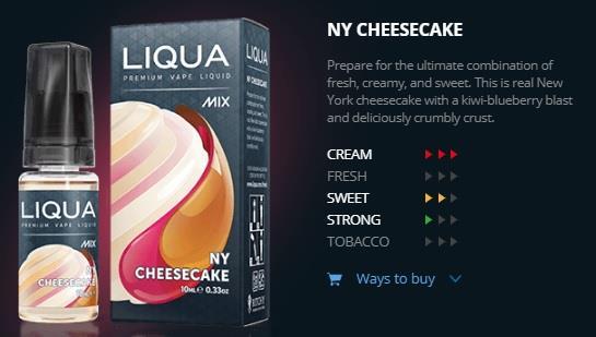 Ori LIQUA Mix NY Cheesecake 30ml Flavor E Liquid Juice Flavour Vape