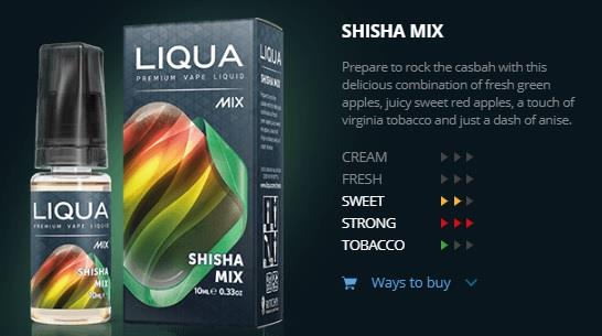 Ori LIQUA Mix Shisha Mix 30ml Flavor E Liquid Juice Flavour Vape