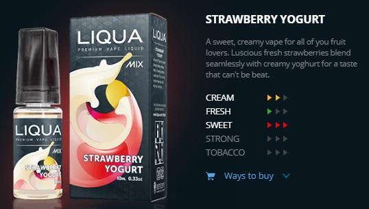 Ori LIQUA Mix Strawberry Yogurt 30ml Flavor Liquid eJuice Flavour Vape