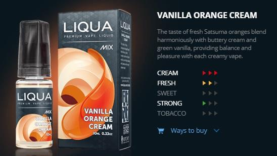 Ori LIQUA Mix Vanilla Orange Cream 30ml Flavor E Liquid eJuice Vape